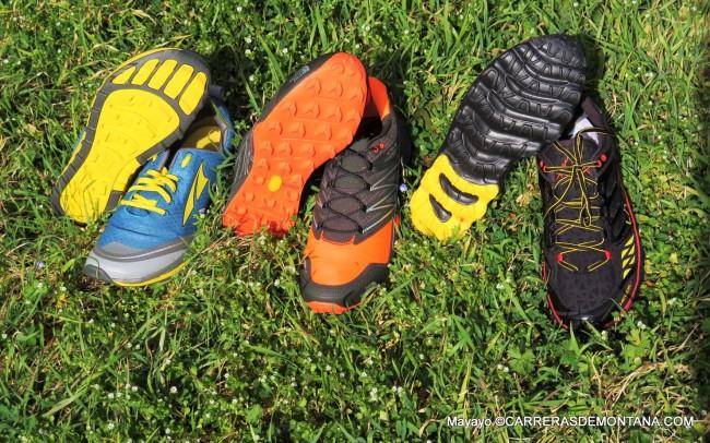 Zapatillas Trail 2015: Altra Superior 2; TNF MT Ultra y La Sportiva Helios