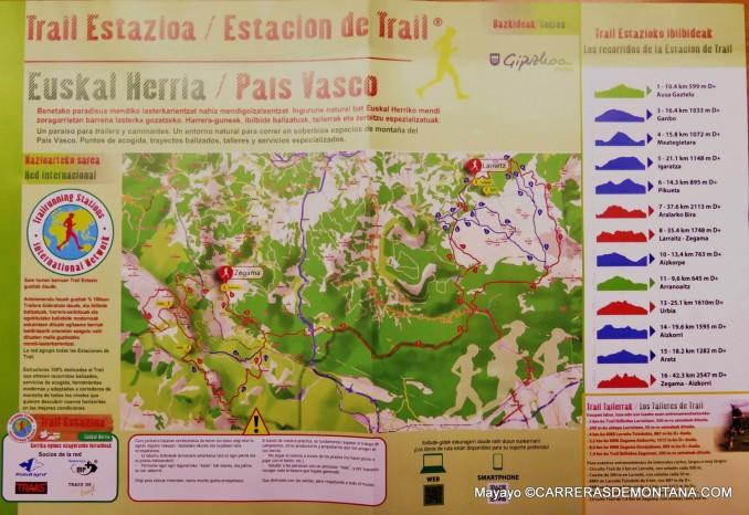 Estacion trail Zegama Albatzisketa: Imangen del mapa senderos balizados, por Mayayo.