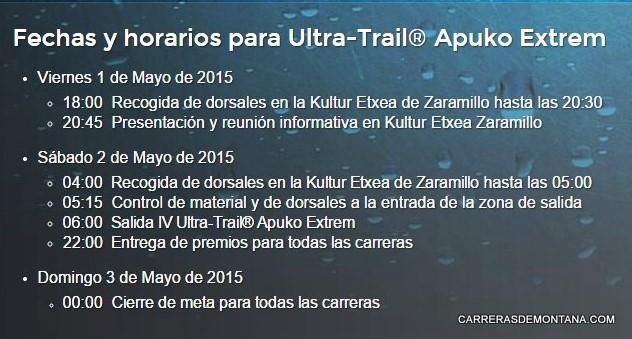Programa Apuko Extrem 2015