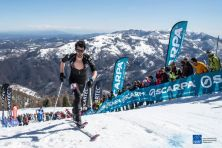Kilian Jornet campeón Copa del Mundo Skimo vertical race 20145 en Mondole. Foto: ismf skimo