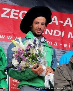 Kilian Jornet campeón y record Zegama 2014. Foto: Mayayo.
