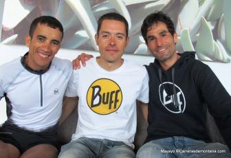 Zaid Ait Malek con sus compàñeros Pau Bartolo y Gerard Morales Transgrancanaria 2014.