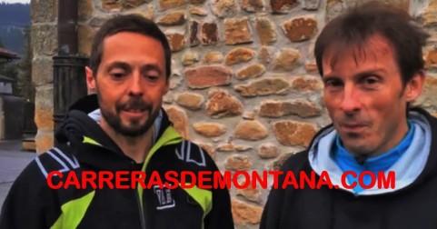 Benoit Laval y Sergio Fernández, de Raidlight, en Zegama. Foto:  MemphisMadrid.