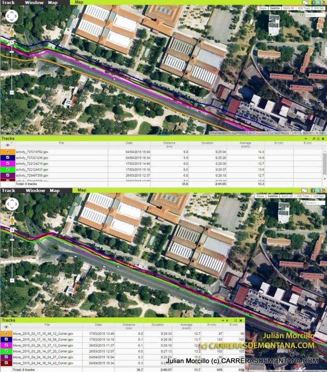 7.Comportamiento de Fenix3 y Ambit3 sobre el mismo circuito urbano. En general Ambit3 resuelve mejor.