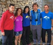 Corredores referencia Ultra Mallorca (izq a dcha) David Mundina, Yolanda Fernández, Sonia Escuriola y Remi Queral.