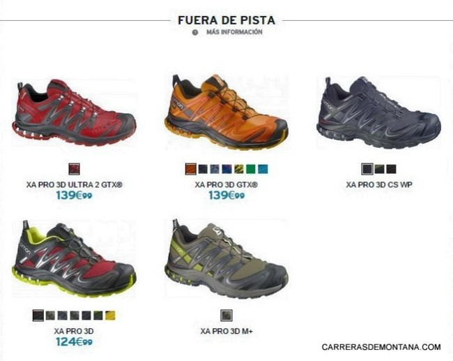 Zapatillas Salomon trail running 2015 Fuera de pista