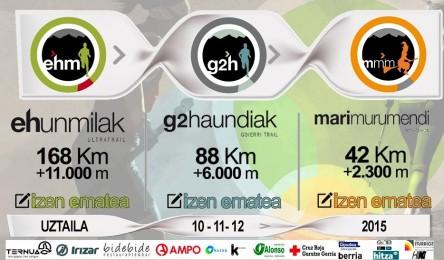 Ehunmilak 2015: Tres grandes carreras (168k - 88k - 42k)