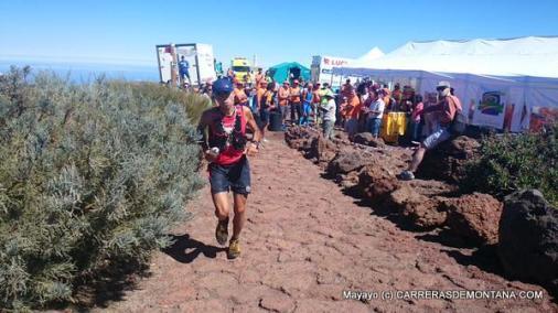 Transvulcania 2015: Cristofer Clemente al paso del Roque.