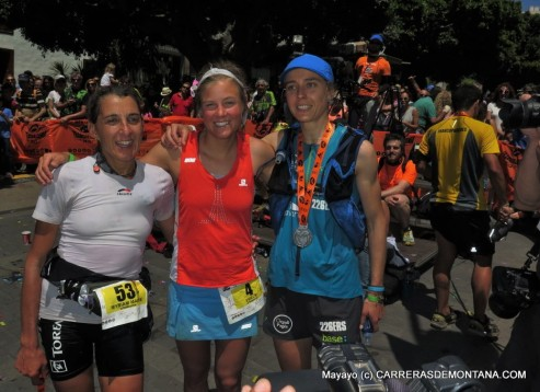 Transvulcania 2015: Podio femenino