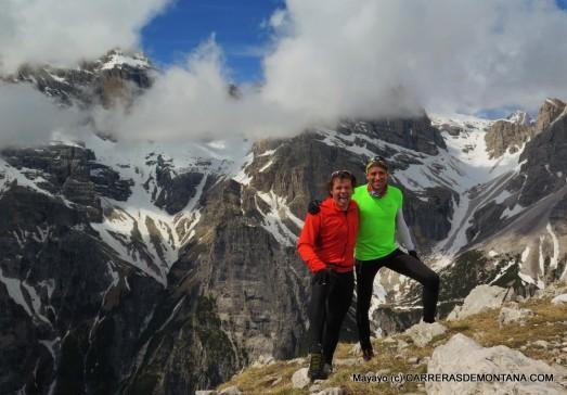 Con Luis Sola en la Cima Sophia , Dolomitas de Brenta.