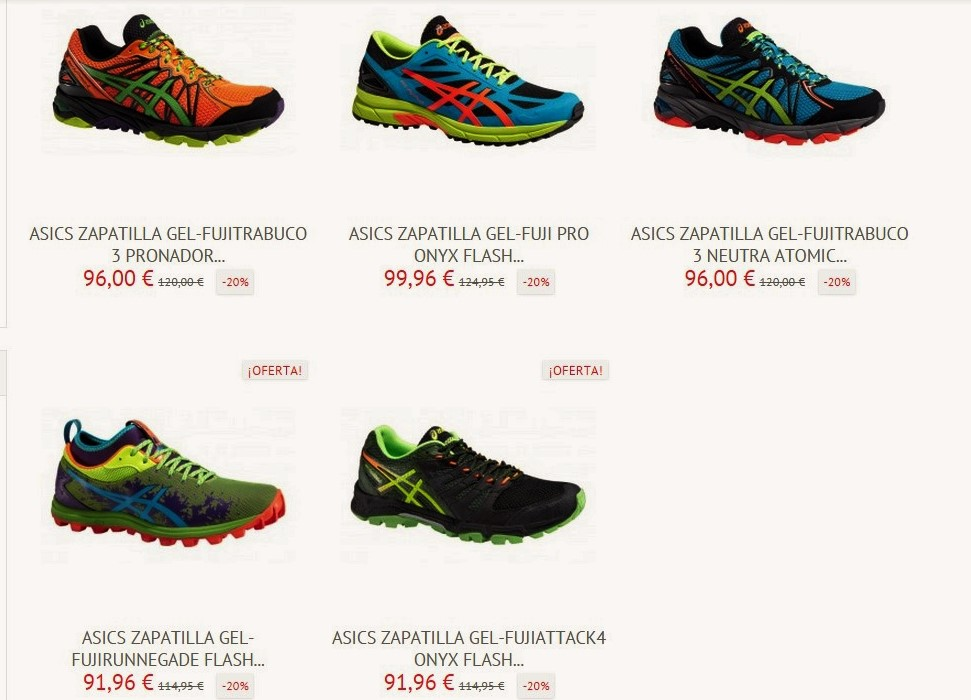 zapatillas trail running asics