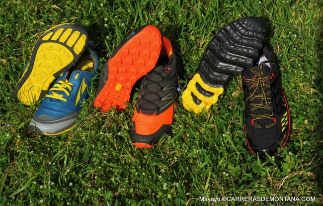 zapatillas trail running altra, la sportiva y the north face.