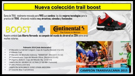 Adidas Running 2015 gama trail running