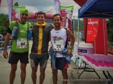 Maraton Alpino Madrileño 2015. Podio masculino: 1-Alfredo Gil 2-Daniel Remón 3-Israel Cañamero