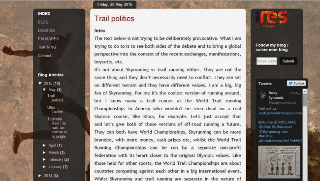 Trail Politics by Andy Symmonds
