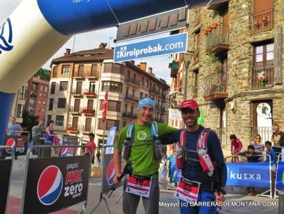 Julián y Mario: Meta en 38h59m44s. Puesto 100º de 150 finalistas.