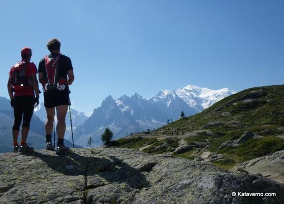 Mont Blanc: Panorámica desde Teté-aux-vents sobre Chamonix.