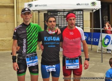Campeonato Euskadi Ultra trail 2015. Podio masculino. Foto: Mayayo.