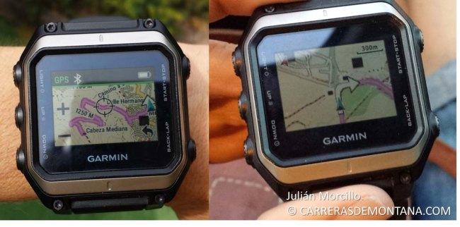 Garmin Epix: Ruteo práctico. Muestra pantallas generadas.