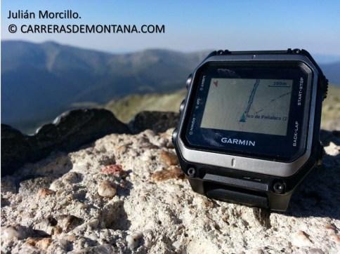 Garmin Epic en cima Peñalara. Foto; Julián Morcillo.