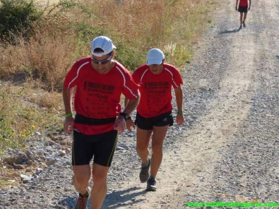 David Mora probando Adidas Kanadia en los 86k del Camino San Frutos (Segovia)