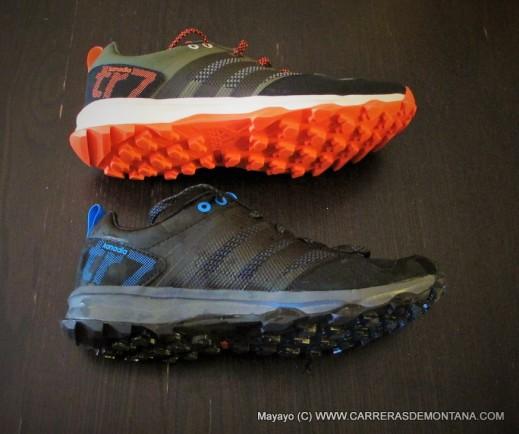 Adidas Kanadia TR7 en versiones caqui y negra. Foto: Mayayo.