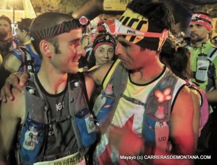 David con Gerard Morales en la salida GTP2015. Foto: Mayayo