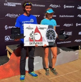 Matterhorn ultraks 2015 Campeones ascensión Aritz Egea y Megan Kimmel. foto Organizacion
