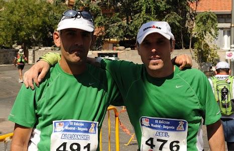 Con Alex en Mataelpino 2012. Foto: Sebas Navarrete.