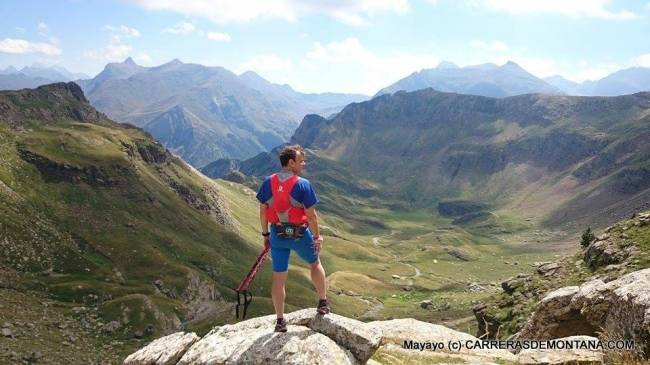 Panorámica del Valle del Aragón en el descenso del Aspe.