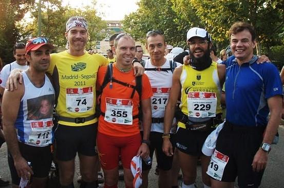 Madrid Segovia 2011. Salida con Pako, Jorge, Abel, Fran, Micra y Mayayo