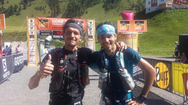 Equipo Carrerasdemontana.com en Transalpine 2015: Julián Morcillo y Jan Bartas