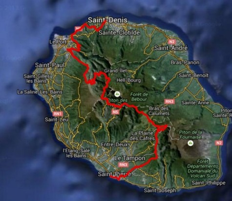 Grand Raid Reunion 2015 Mapa de carrera (2)