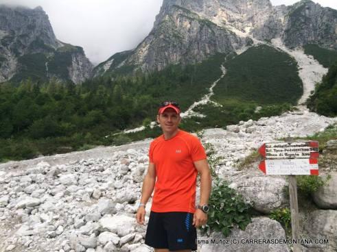Helly Hansen a prueba en Dolomitas, con Isma Muñoz.