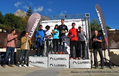 Desafío Lurbel Aitana 2015 120km: Podio masculino y femenino.