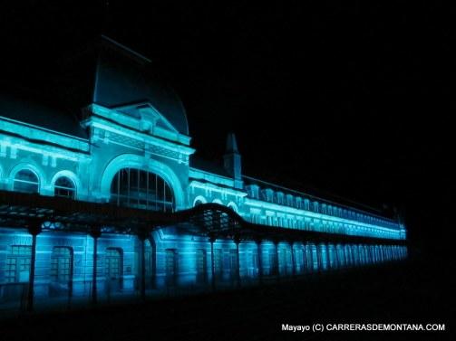Canfranc Estación con sus nuevas luces estrenadas en 2015.