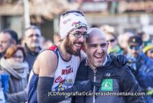 José Irurozqui celebra su victoria con Gabi, del Asador de Angel.