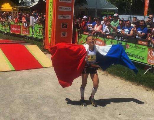 Nathalie Mauclair, tricampeona 2015: Mundial IAU Trail, UTMB y Ultra trail World Tour. Foto: Mayayo.