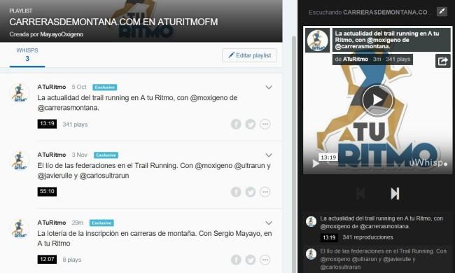 Carrerasdemontana.com en Aturitmofm Lista de audios