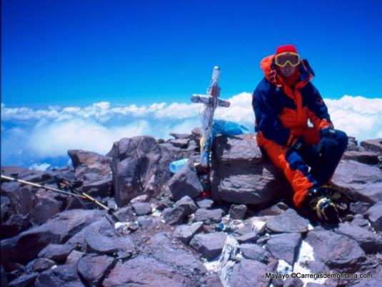 Mayayo en cima Aconcagua, (6.962m)