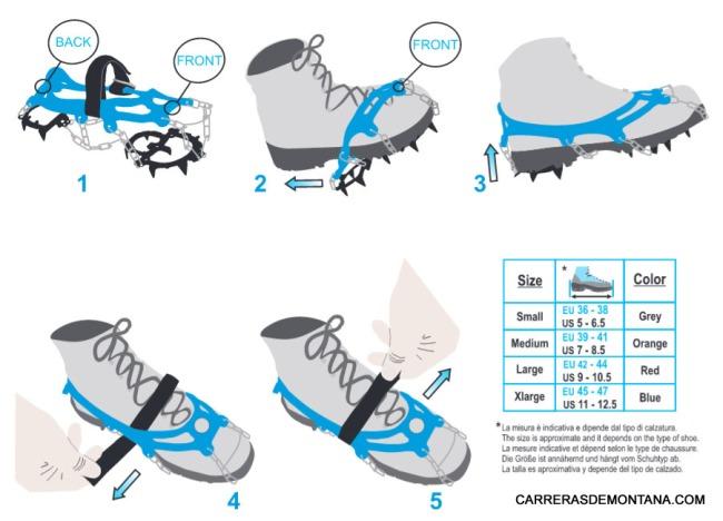 Camp Ice Master crampones trail runinng modo de uso