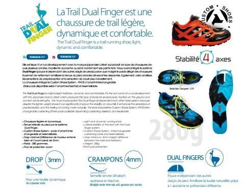 Raidlight Trail Dual Finger: Ficha técnica oficial