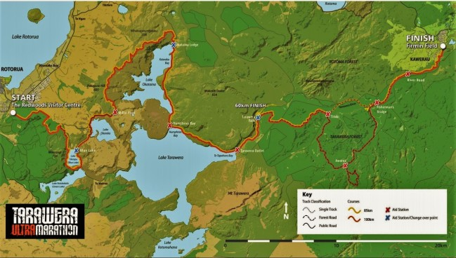 Tarawera Ultramarathon 2016 map 103k d+2755m detail