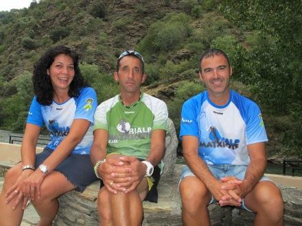 Montse, Txema y Kiko, de la organización Rialp Matxicots.