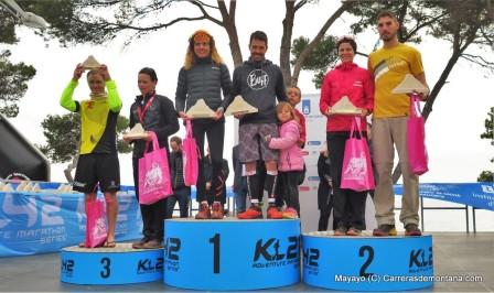 K42 Mallorca: Podio masculino y femenino.