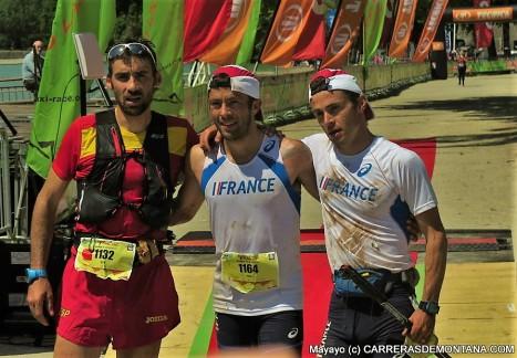 Podio Mundial IAU Trail Annecy 2015: Luis Alberto, con Joma. Foto: Mayayo.