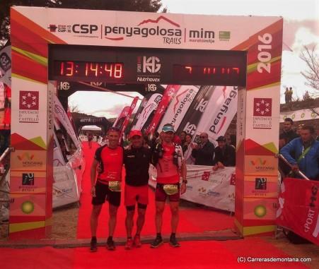 Podio masc. CSP115: Sebas Sánchez, Remi Queral y Victor Bernad.
