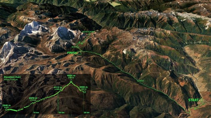 yading skyrun 2016 skyrunner world series map