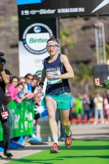 Emily Collinge, campeona Kilómetro Vertical Transvulcania 2016
