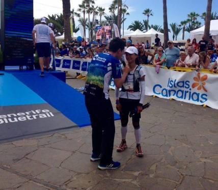 Marcia Zhou campeona Tenerife Blue trail ultra
